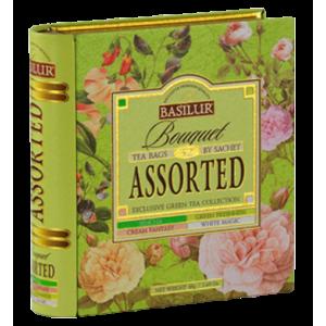 Basilur колекция Книга Букет зелен чай 32 бр