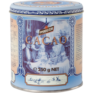 Van Houten Cocoa Tin Blue