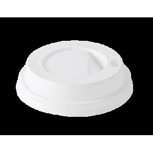 Пласмасов капак за картонена чаша 8 OZ стек 100 бр