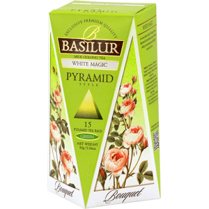 Basilur Букет БЯЛО ВЪЛШЕБСТВО - зелен чай пирамида 2 г х 15 бр