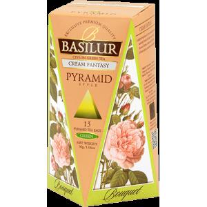 Basilur Букет НЕЖНА ФАНТАЗИЯ - зелен чай пирамида 2 г х 15 бр