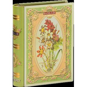 Basilur КНИГА-РОМАНТИЧНА ИСТОРИЯ том 1, мет.кутия с насипен зелен чай 100 г