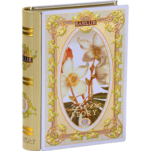 Basilur  КНИГА-РОМАНТИЧНА ИСТОРИЯ том 3, мет.кутия с насипен зелен чай 100 г